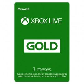 Tarjeta Xbox Live Gold de 3 Meses - Envío Gratuito