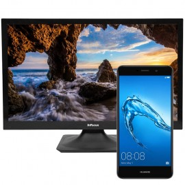 "Huawei L53 GW Metal Gris + Pantalla InFocus 24"" - Envío Gratuito"