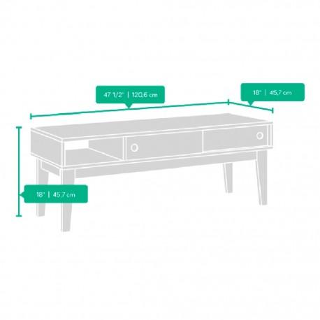 Mesa de Centro Soft Modern Sauder Café Puertas Deslizables - Envío Gratuito