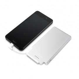 Bateria Portatil Recharge Ultradelgada de 3000 mAh Color Plata Blanco - Envío Gratuito