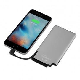 Bateria Portatil Recharge Ultradelgada de 3000 mAh Color Gris Negro - Envío Gratuito