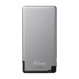 Bateria Portatil ReCharge Micro USB de 5000 mAh color Gris Negro - Envío Gratuito