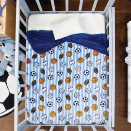 Cobertor Baby Siberia Cuna pelotas - Envío Gratuito