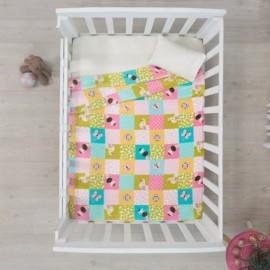 Cobertor Baby Ligero Cuna arcoiris - Envío Gratuito