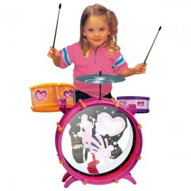 Batería Fiesta Band Rosa - Envío Gratuito