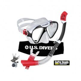 Set de Visor y Snorkel Magellan de silicón U.S Divers USDMAGE - Envío Gratuito