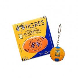 Combo Tigres 7: 1 Sticker Voltoch Tigres Oficial + 1 Llavero Balón Tigres Voltoch Oficial - Envío Gratuito