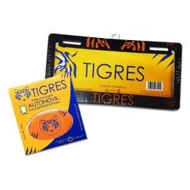 Combo Tigres 3: 1 Par de Portaplacas + 1 Sticker Voltoch Tigres Oficial - Envío Gratuito