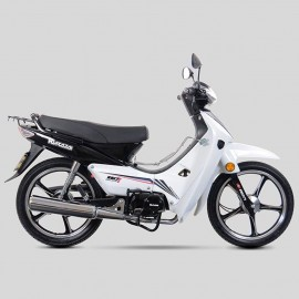 Motocicleta Semiautomática Kurazai Galaxy Blanca 110 cc - Envío Gratuito