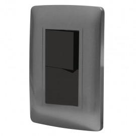 Paquete de 2 Apagador doble con placa Toscana graphite - Envío Gratuito