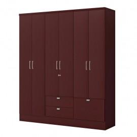 Ropero Closet Bertolini 598 Caoba 6 Puertas 3 Cajones