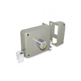 Cerradura izquierda de sobreponer fácil instalación con llave tradicional Santul - Envío Gratuito
