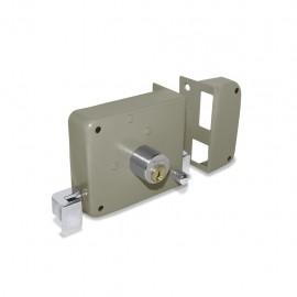 Cerradura derecha de sobreponer fácil instalación con llave tradicional Santul - Envío Gratuito