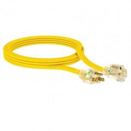 Extensión uso rudo aterrizada de 7.6 m Calibre 14AWG color amarilla Sanelec - Envío Gratuito