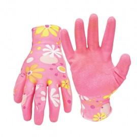 Guantes de poliéster elástico recuerto de látex Talla mediana color rosa Santul Caja con 6 piezas - Envío Gratuito