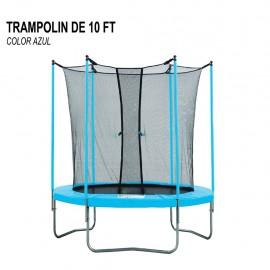 Trampolín Fuxion Sports 10 pies FXTR10P-AZUL - Envío Gratuito