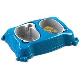 Plato doble automático New Practic Mediano Azul - Envío Gratuito