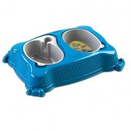 Plato doble automático New Practic Grande Azul - Envío Gratuito