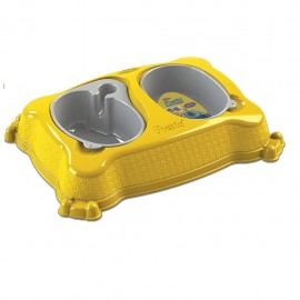 Plato doble automático New Practic Grande Amarillo - Envío Gratuito