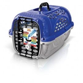 Transportadora Mediana para Mascota PlastPet Color Azul 425 - Envío Gratuito