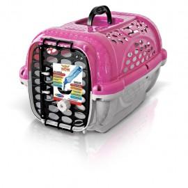 Transportadora pequeña para Mascota PlastPet Color Fiusha 418 - Envío Gratuito