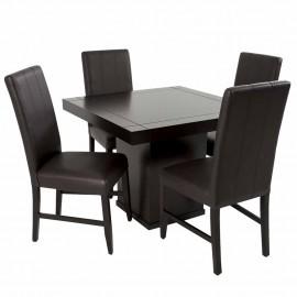 Antecomedor Gerona 4 sillas estilo contemporáneo