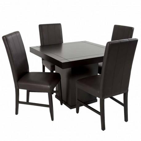 Antecomedor Gerona 4 sillas estilo contemporáneo - Envío Gratuito
