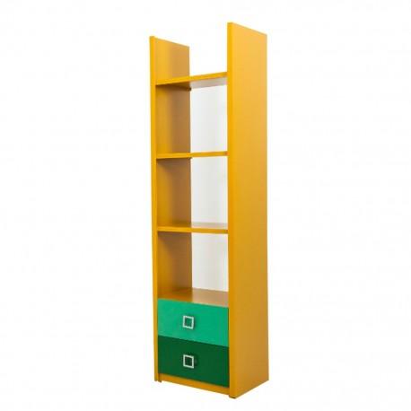 Librero Oregon Estilo Contemporáneo Color Maple - Envío Gratuito