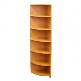 Librero Esquinero Matuk de Melamina color Peral