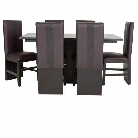 Comedor Aruba 6 sillas Estilo Contemporáneo - Envío Gratuito